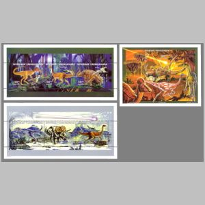 Dinosaurs on stamp of Macedonia 1998