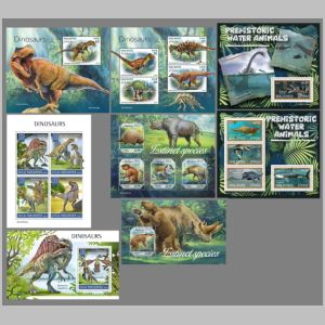 Dinosaurs on stamp of Maldives 2019