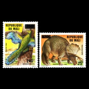 Dinosaurs on stamp of Mali 1992