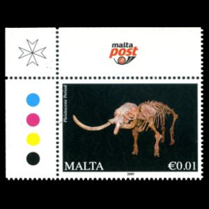 Elephas falconeri fossil on stamps of Malta 2015