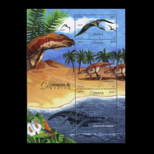 Dinosaurs stamps of Mexico 2006