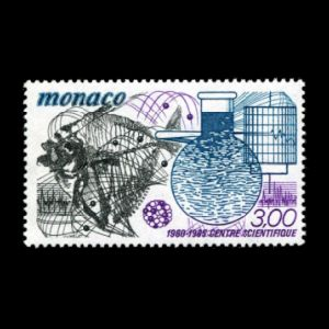 Scientific Research Center of Monaco on stamps from 1985