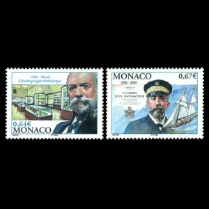 Albert I Prince Monaco on stamp of Monaco 2002