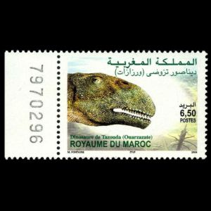 Dinosaur on stamp og Morocco 2004