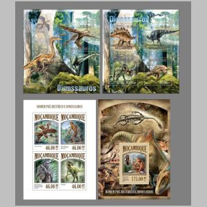 dinosaurs on stamps of Mozambique 2013