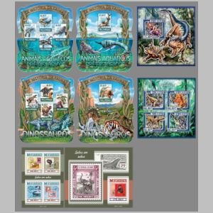 Dinosaurs on stamps of Mozambique 2015