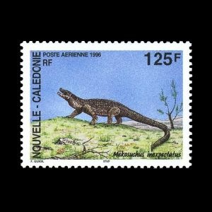 Prehistoric animals on stamps of New Caledonia 1996