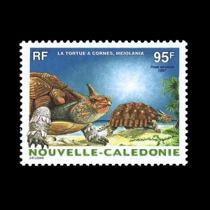 Prehistoric animals on stamps of New Caledonia 1997
