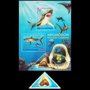 Prehistoric animals on stamps of New Caledonia 1999