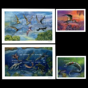 Prehistoric animals on stamps of Nicaragua 1999