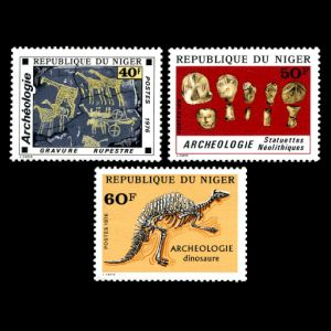 Prehistoric animals on stamps of Niger 1976