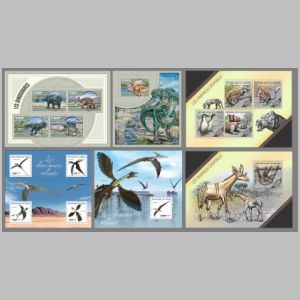 Dinosaurs and prehistoric animals on stamps of Niger 2014