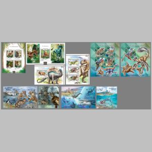 Prehistoric animals on stamps of Niger 2015