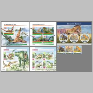Prehistoric animals on stamps of Niger 2020