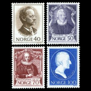 Michael Sars among other zoologists on stamps of Norway 1970