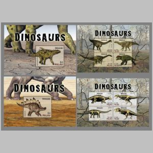 Prehistoric animals on stamps of Norway 2005
