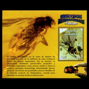 Insect in Amber on stamps of Peru 2014