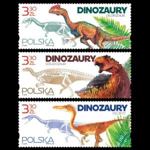 Dinosaurs on stamps of Poland 2020