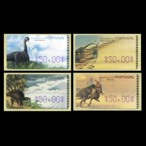 Dinosaurs on stamp of Portugal 1999