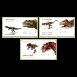 Dinosaurs on stamp of Portugal 2015