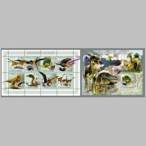 Dinosaurs on stamps of Sao Tome e Principe 2006