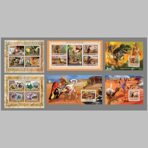 Dinosaurs and other prehistoric animals on stamps of Sao Tome e Principe 2007