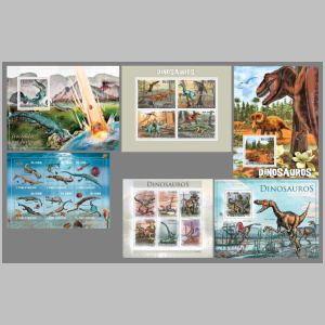 dinosaurs on stamps of Sao Tome 2010