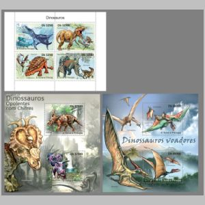 dinosaurs on stamps of Sao Tome 2011