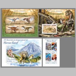 dinosaurs stamps of Sao Tome 2013
