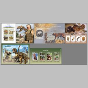 Dinosaurs and Sir Richard Owen on stamps of Sao Tome 2014