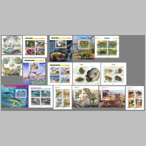 Dinosaurs and other prehistoric animals on stamps of SÃO TOMÉ AND PRÍNCIPE 2020