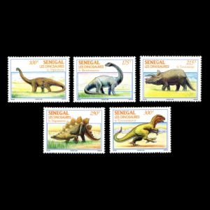dinosaurs on stamps of Senegal 1994