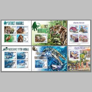 Dinosaurs on stamps of Solomon Islands 2015