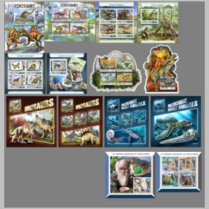 Dinosaurs and prehistoric animals on stamps of Sierra Leone 2017
