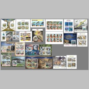 Dinosaurs and other prehistoric animals on stamps of Sierra Leone 2020