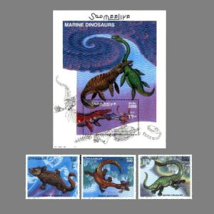 Marine reptile on stamp of Somalia 2000