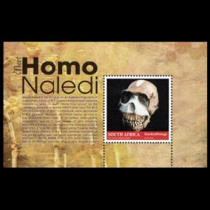 Fossil of Homo naledi on stamps of South Africa 2017