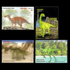 Dinosaurs on stamps of Spain 2016