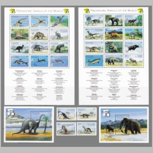 Prehistoric animals on stamps of Saint Vincent and the Grenadines 1999