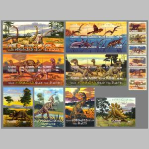 Dinosaurs on stamps of Saint Vincent and the Grenadines 2001