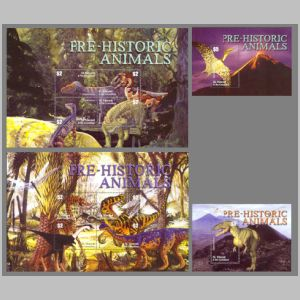 Dinosaurs on stamps of Saint Vincent and the Grenadines 2003