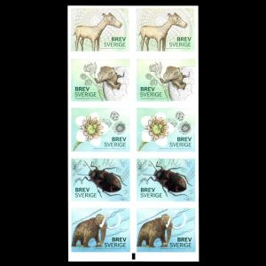 prehistoric animals on stamps of Sweden 2016