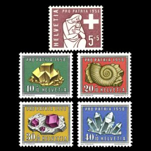 stamp switzerland_1958
