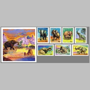 Dinosaurs on stamps of Tanzania 1991