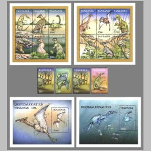 Dinosaurs on stamps of Tanzania 1999