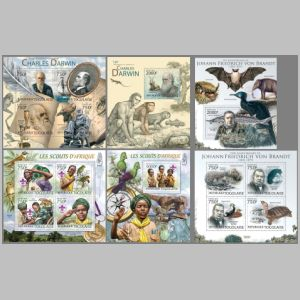 Charles Darwin on stamps of Togo 2012