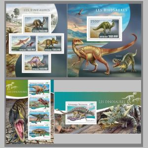 Dinosaurs on stamps of Togo 2014