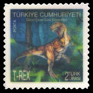 Dinosaurs on stamps of Turkey 2012