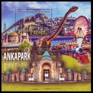 Dinosaurs on Ankapark stamps of Turkey 2017