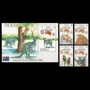 Charles Darwin on stamps of Turkey Turks and Caicos islands 1984